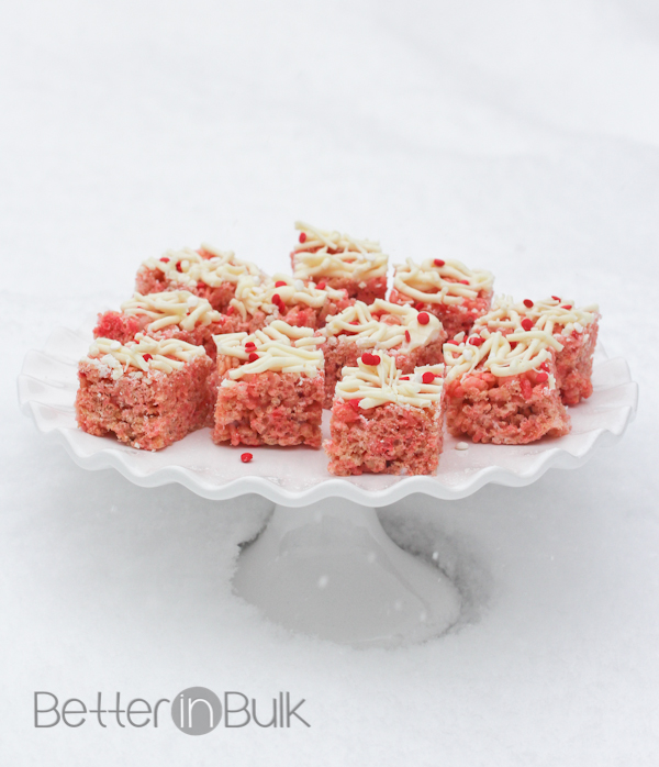 strawberry rice krispie treats