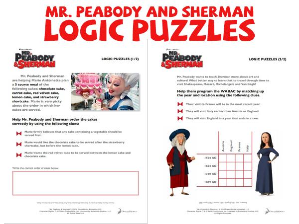 MrPeabodyandSherman-LogicPuzzles