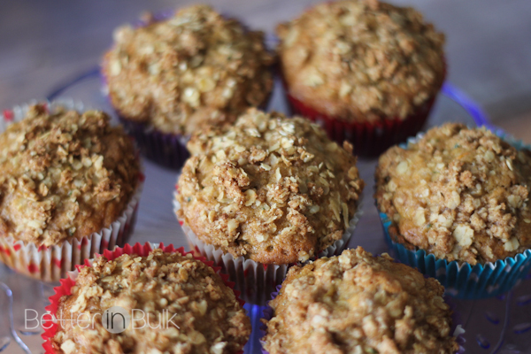 Zucchini bread and carrot cake got married and these delicious muffins are their children. OK, maybe that didn't really happen, but these carrot and zucchini muffins with oatmeal crumble topping are SO good, you've got to try them!
