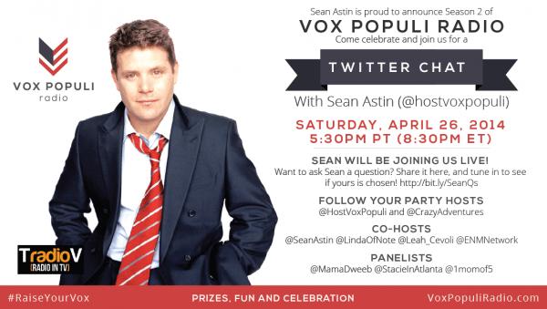 Sean Astin Vox Populi Twitter Chat 4_26