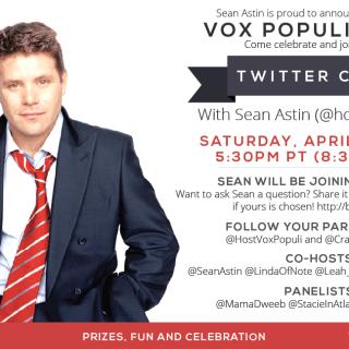 I'll Be Tweeting with Sean Astin – Join Me? #RaiseYourVox