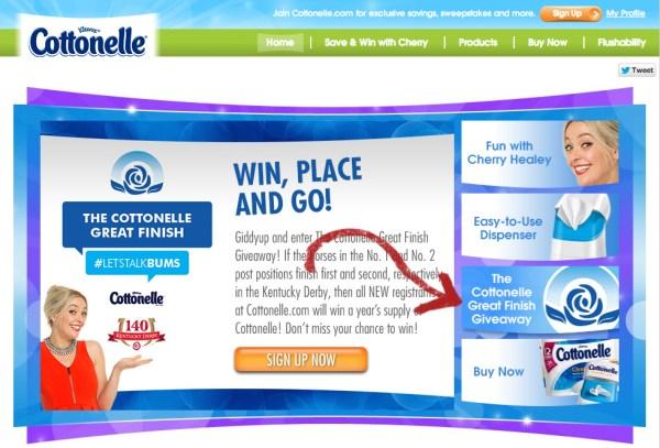 cottonelle landing page