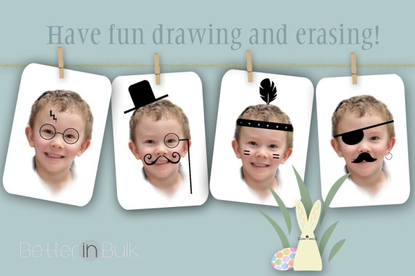 Dry Erase Funny Face Cards