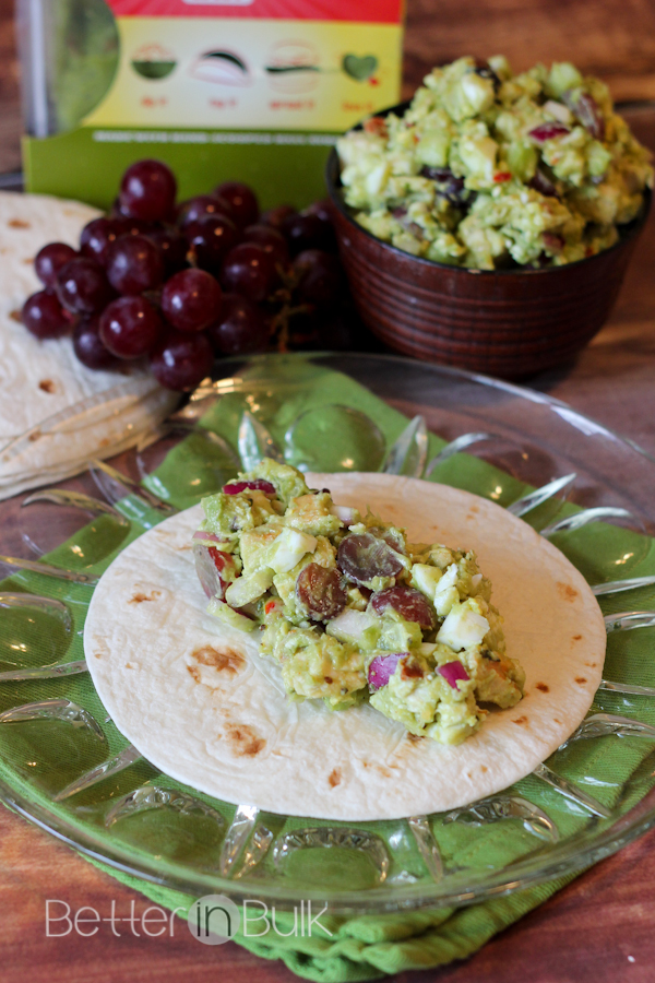 Sweet and Spicy Southwest chicken salad with Wholly Guacamole
