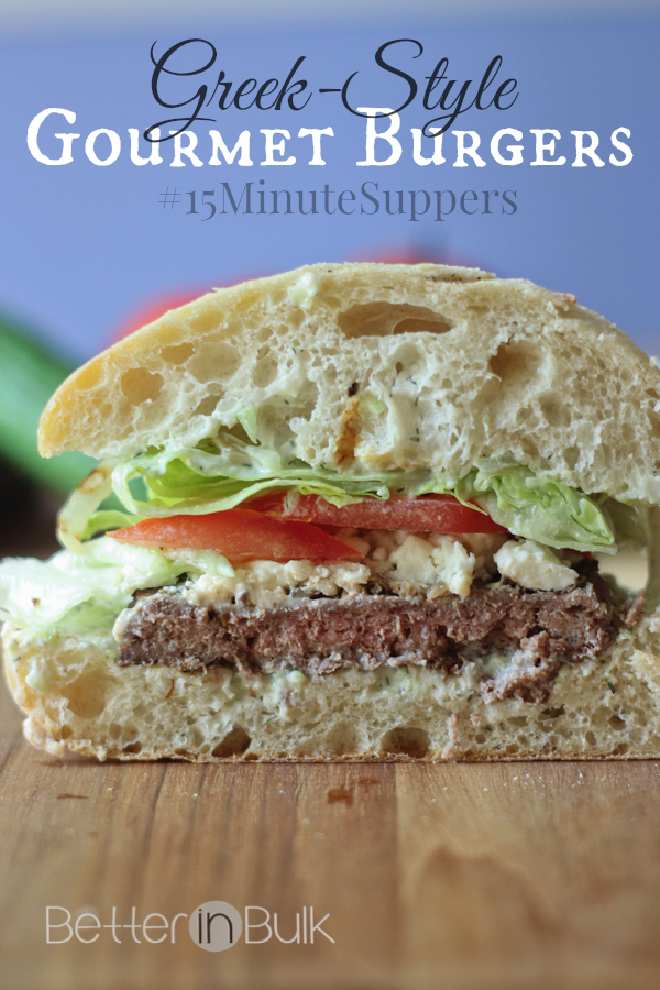 Greek-style gourmet burgers in just 15 minutes from Food Fun Family