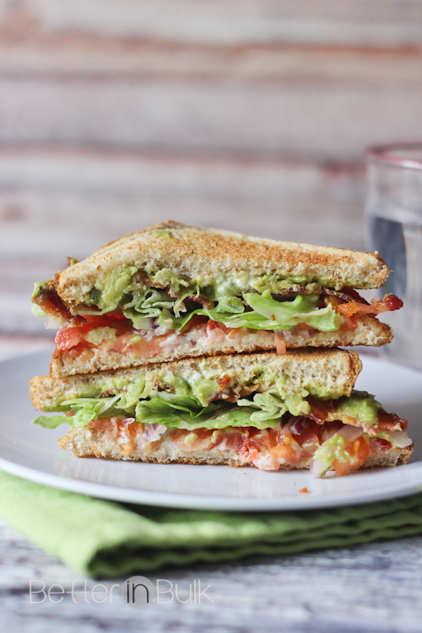 loaded Guacamole BLTs #15MinuteSuppers