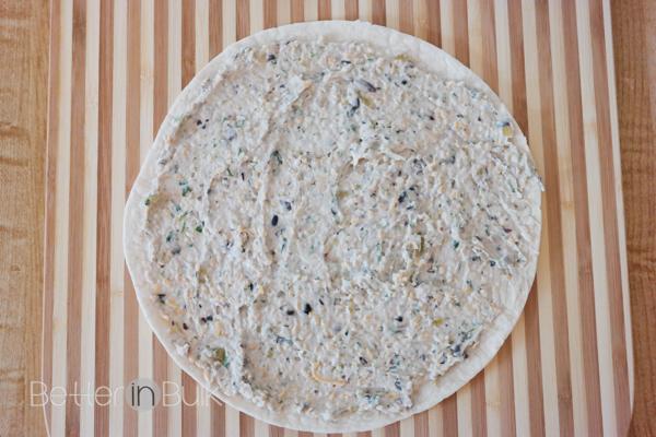 Cilantro black bean tortilla roll ups