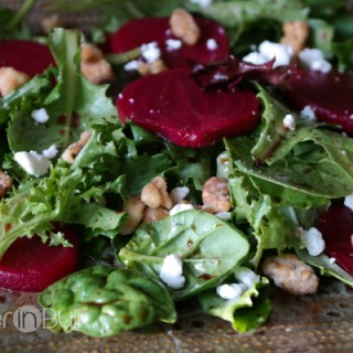 goat cheese and beet spring salad