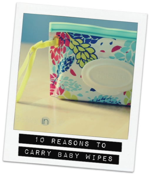 10 Reasons All Moms Should Carry Baby Wipes