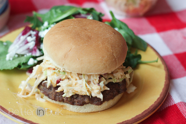 Cabbage and Pineapple Slaw Burgers