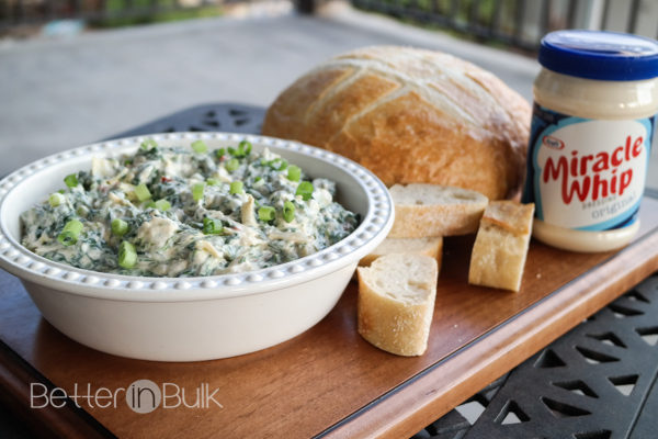 creamy spinach and artichoke dip - Miracle Whip