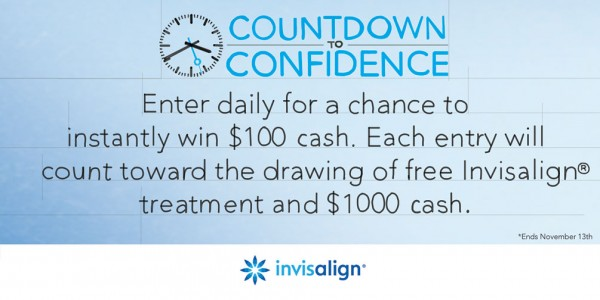 INVISALIGN Countdown to Confidence Sweepstakes