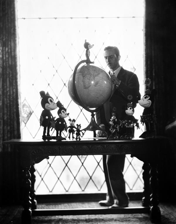 Walt Disney by window
