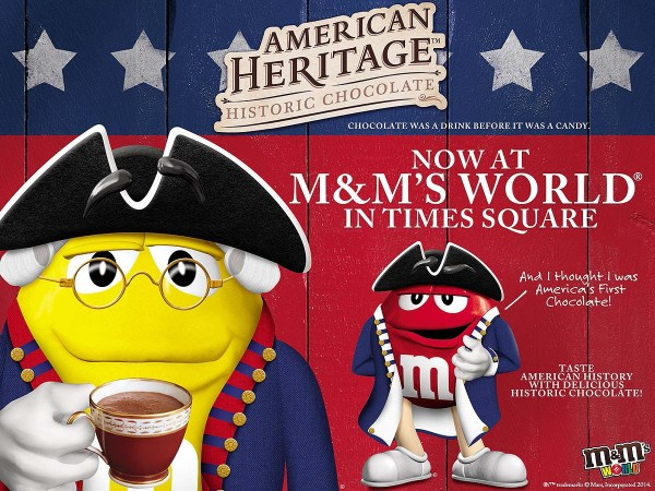 American Heritage Chocolate at M&M's World