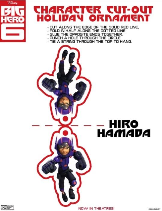 Big Hero 6 Ornaments
