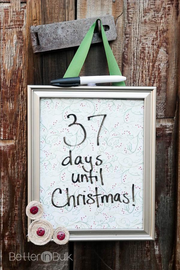 Christmas Countdown Frame Craft