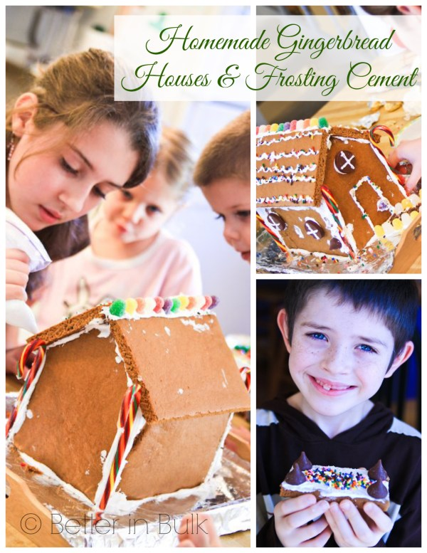 How to make your own Gingerbread houses and frosting cement