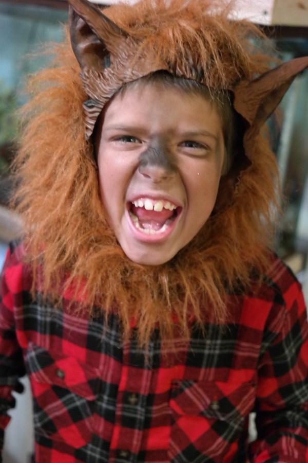 trick or treating werewolf costume