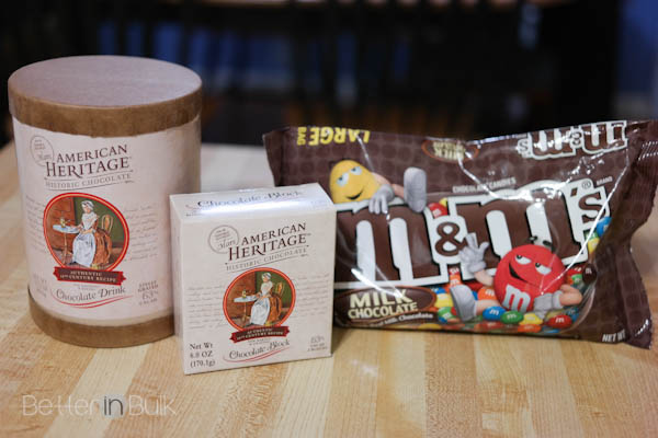 Triple chocolate cupcakes recipe with American Heritage Chocolate