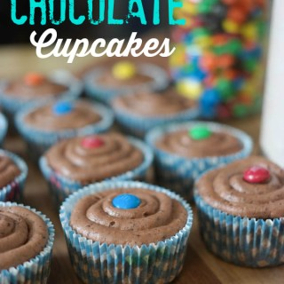Triple chocolate cupcakes recipe with American Heritage Chocolate