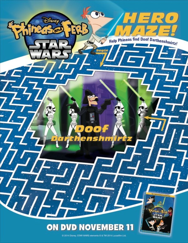 phineas and ferb star wars maze