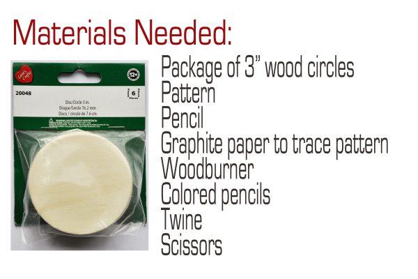 Wood gift tags materials