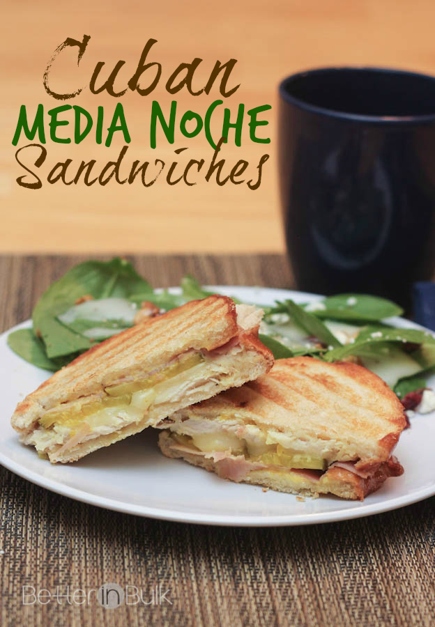 Cuban media noche sandwiches