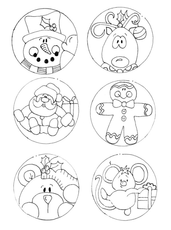 gift tag images to trace