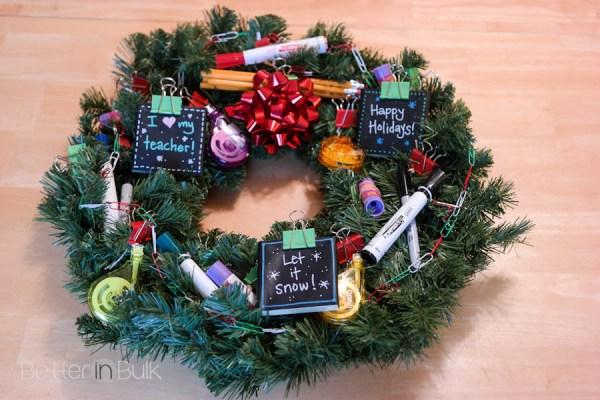 DIY Holiday Teacher Wreath