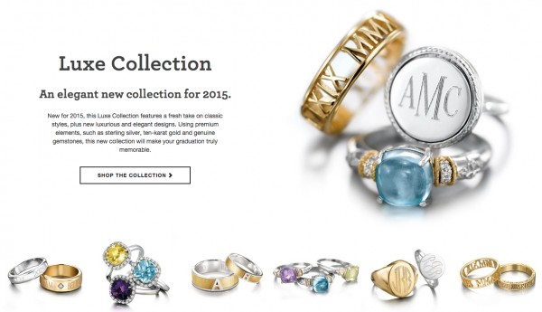 Jostens class rings - luxe collection