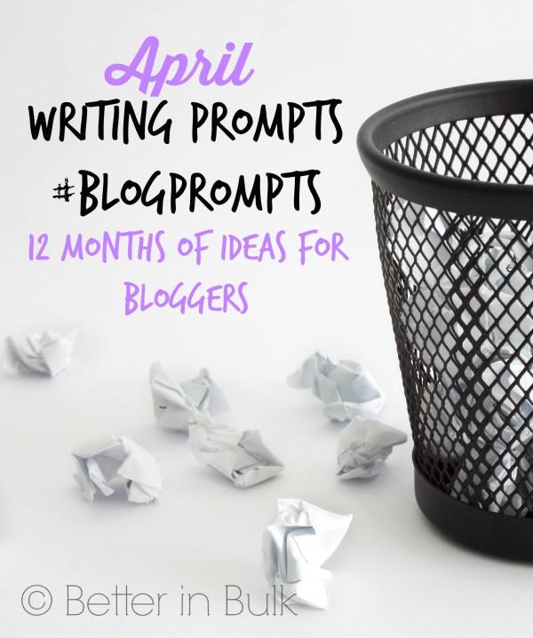 April blog prompts
