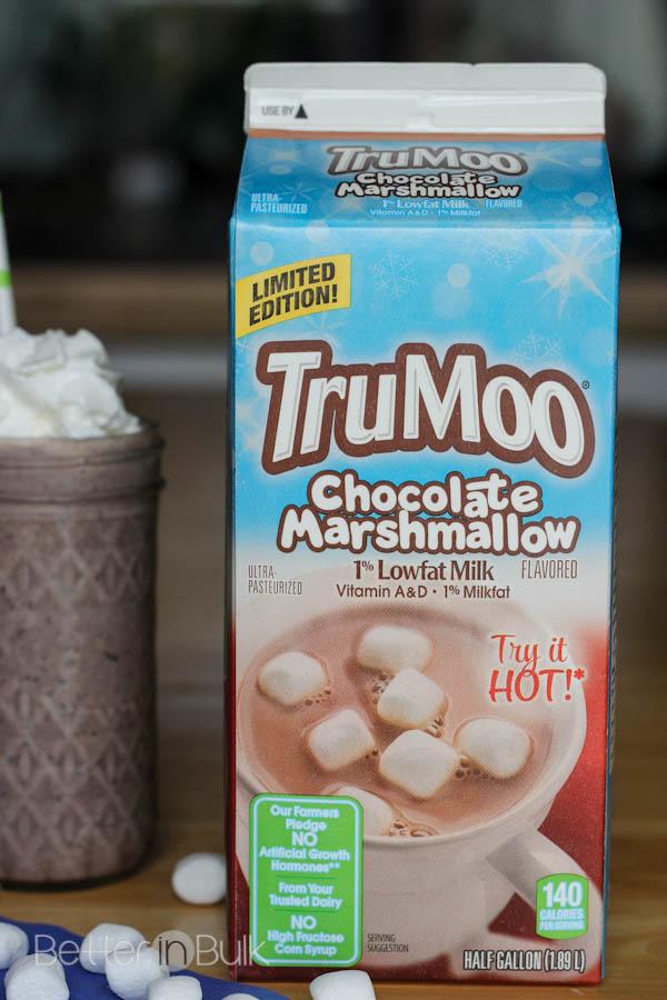 Light cookies and cream milkshake with TruMoo Chocolate Marshmallow milk