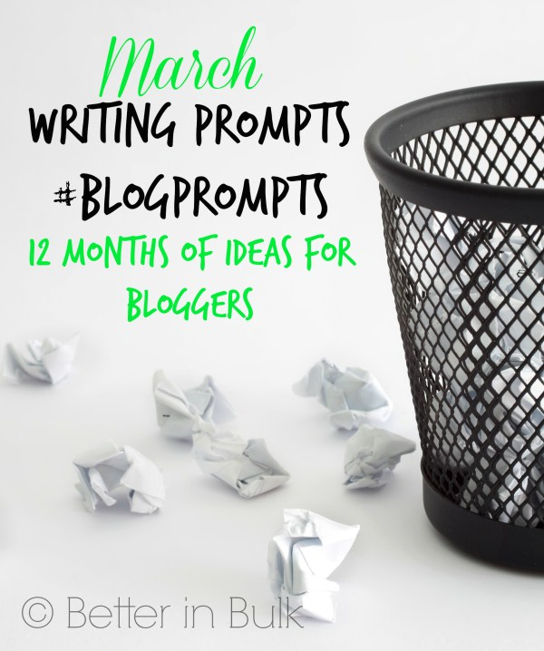 March blog prompts