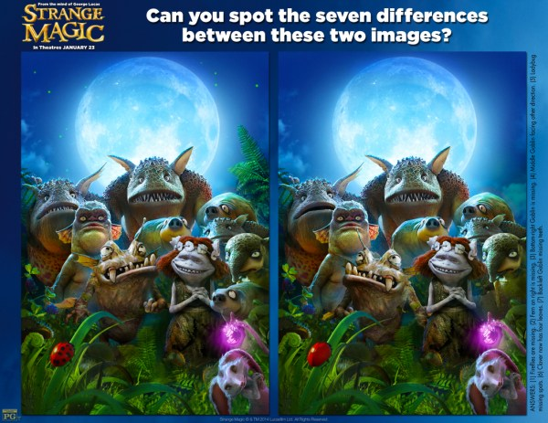 Strange Magic - spot the differences