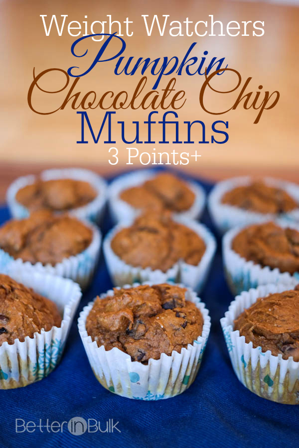 Weight Watchers Chocolate Chip Pumpkin Muffins