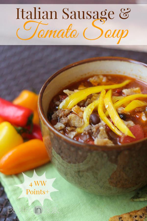 Italian Sausage and Tomato Soup - Groundhog Day recipe
