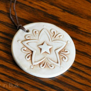DIY Antiqued Clay Pendant