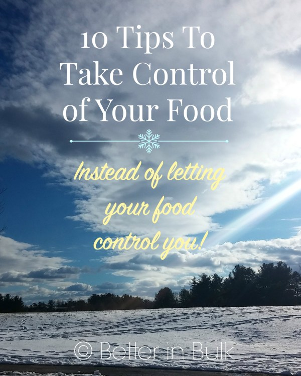 take control of your food instead of letting your food control you! Weight Watchers #WWsponsored