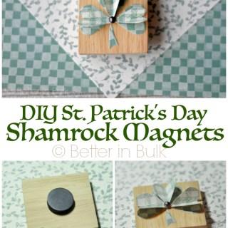 DIY Wood Shamrock Magnets