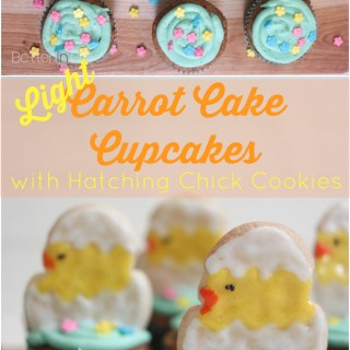 Light Carrot Cake Cupcakes {With Hatching Chick Cookies}