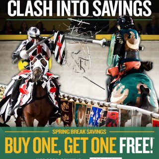 Spring Break at Medieval Times {BOGO Special}