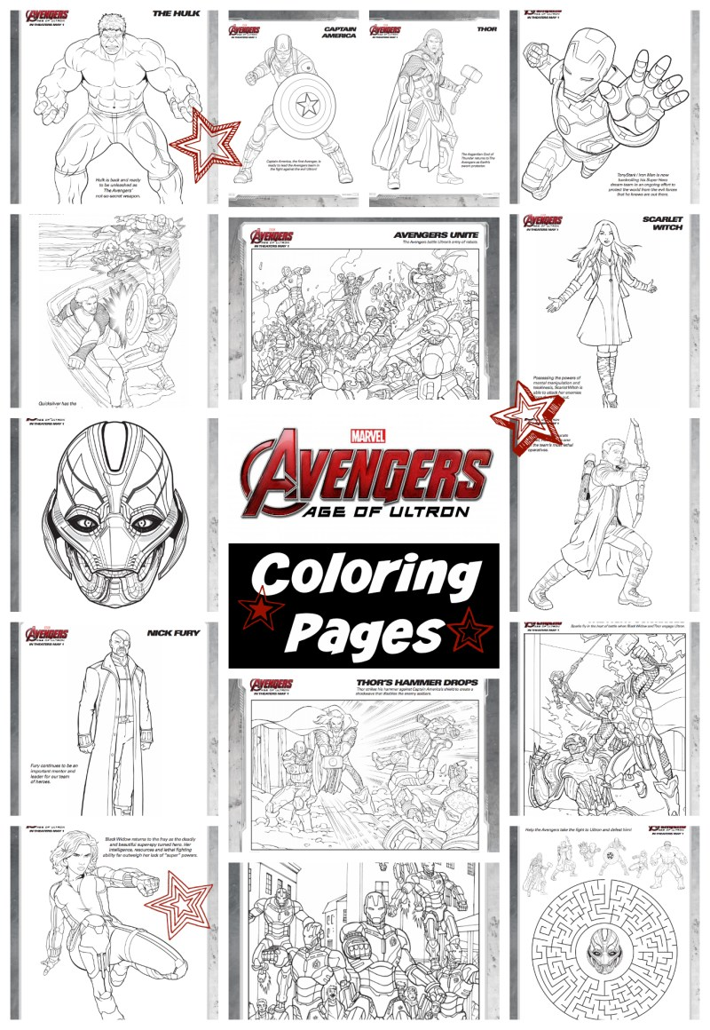 Avengers Age Of Ultron Coloring Pages Avengersevent Printables