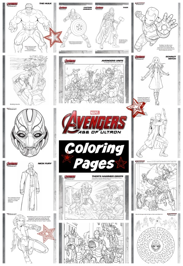 Avengers 2 coloring pages