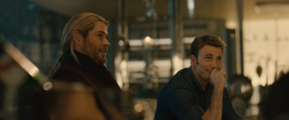 Marvel's Avengers: Age Of Ultron. L to R: Thor (Chris Hemsworth) and Steve Rogers/Captain America (Chris Evans) | Photo credit: Marvel