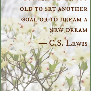 Believe You Can Make a Change and Lose Weight Today {C.S. Lewis quote}