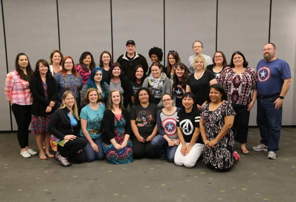 Kevin Feige and our group of bloggers in Los Angeles | Photo credit: Disney