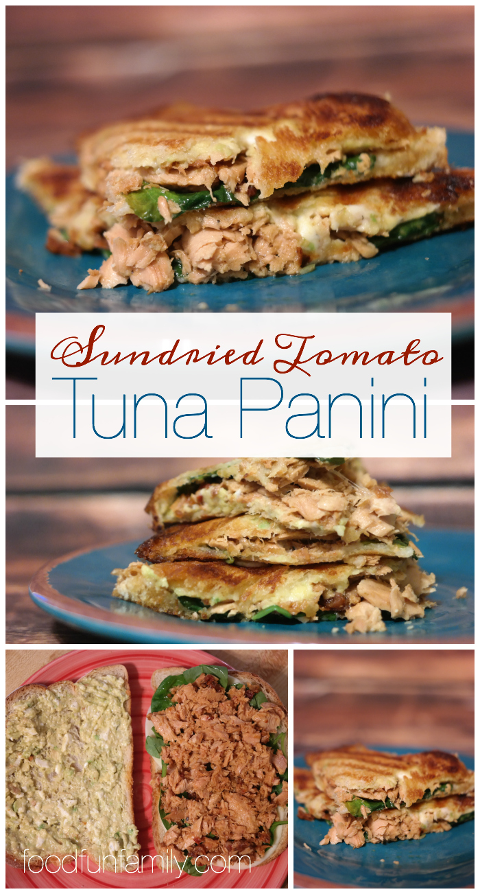 Skip the boring old sandwich and try this sundried tomato tuna panini - an easy, delicious and full-flavor lunch recipe