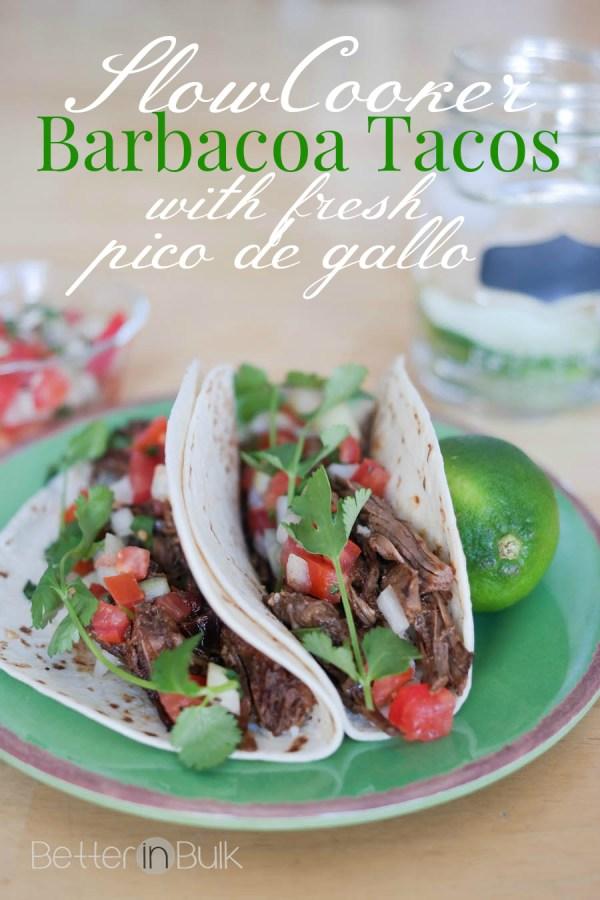 barbacoa tacos with fresh pico de gallo