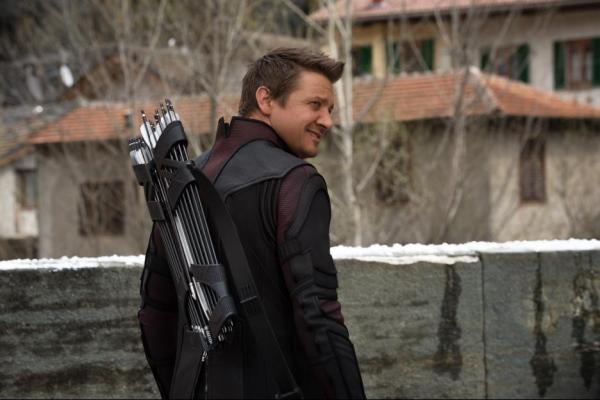 Jeremy Renner as Hawkeye in Avengers: Age of Ultron | Photo credit: Marvel