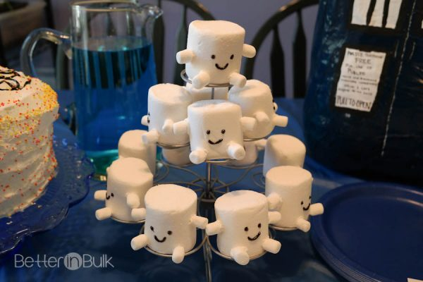 Adipose Marshmallows  - Doctor Who Party